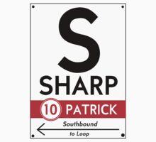 Retro CTA sign Sharp Kids Clothes