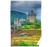 Eilean Donan Watercolour effect 2 Poster