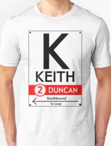 Retro CTA sign Keith Unisex T-Shirt