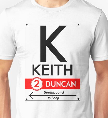 Retro CTA sign Keith Unisex T-Shirt