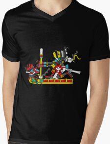 Ome Acatl Tezcatlipoca Mens V-Neck T-Shirt