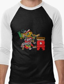 Huehucoyotl Ce Xochitl Men's Baseball ¾ T-Shirt