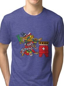 Huehucoyotl Ce Xochitl Tri-blend T-Shirt