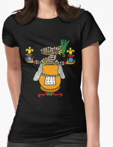 Ome Tochtli Pahtecatl Womens Fitted T-Shirt