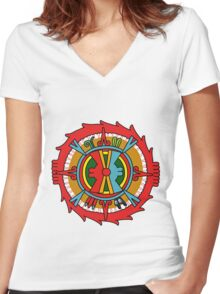 Ollin Tonatiuh Women's Fitted V-Neck T-Shirt