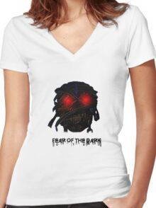 Fear Of The Dark Women's Fitted V-Neck T-Shirt