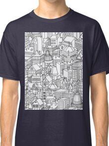 City Doodle - Repeating Pattern Classic T-Shirt