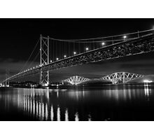 Forth Road and Rail Bridges Photographic Print