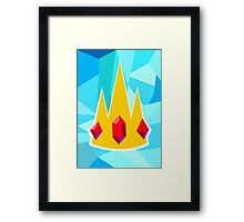 Ice King Crown  Framed Print