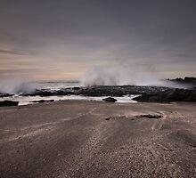 splash on the sand by JorunnSjofn Gudlaugsdottir