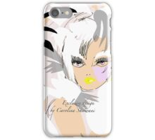 Mademoiselle, Exclusive design by Artist Carolina Sherwani iPhone Case/Skin