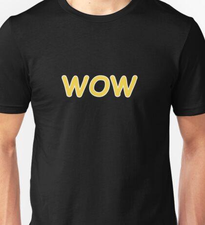 Dogecoin WOW! Gold Text Unisex T-Shirt