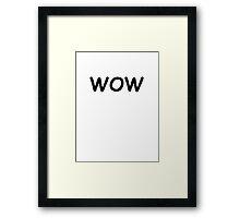 Dogecoin WOW Framed Print