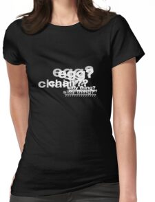 Egg Chair Sitty Thing (white) Womens Fitted T-Shirt