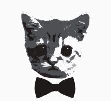 Kitten Bowtie T-Shirt by Jelly-Bean