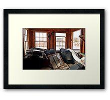 Folding Chairs Framed Print
