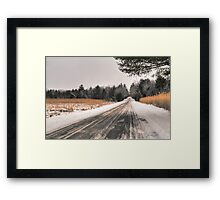 Cold Spring Road in Winter Framed Print