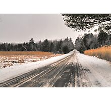 Cold Spring Road in Winter Photographic Print