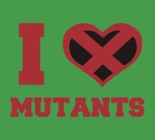 I Heart / Love Mutants One Piece - Short Sleeve