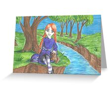 By the Creek Greeting Card