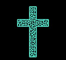 Mint Leopard Cross by M Studio Designs