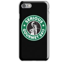 Some Serious Gourmet Coffee (clean) iPhone Case/Skin