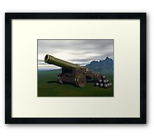 Ceremonial Cannon  Framed Print