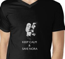 Keep Calm and Save Nora Mens V-Neck T-Shirt