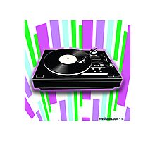 Cool Retro Record Player Photographic Print