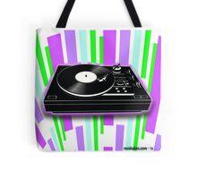 Cool Retro Record Player Tote Bag