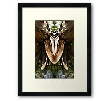 Spring Water Dog - Nature's Mirror Image Framed Print