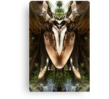Spring Water Dog - Nature's Mirror Image Canvas Print