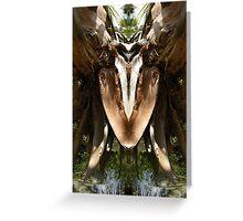 Spring Water Dog - Nature's Mirror Image Greeting Card