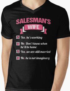 SALESMAN'S WIFE Mens V-Neck T-Shirt