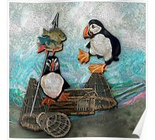 Huffin' & Puffin by Alma Lee Poster
