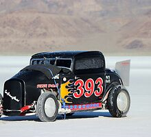 Bonneville Flames by Maree Costello