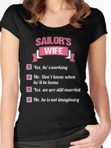 SAILOR'S WIFE Women's Fitted Scoop T-Shirt