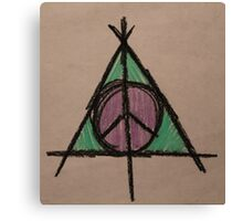 My Original Deathly Hallows and Peace Symbol Canvas Print