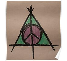 My Original Deathly Hallows and Peace Symbol Poster