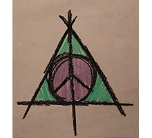 My Original Deathly Hallows and Peace Symbol Photographic Print