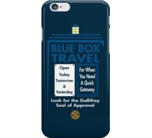 Blue Box Travel iPhone Case/Skin