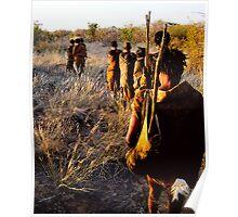 San Bushman - Kalahari Desert Poster