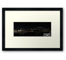 Sydney Icons at night. Framed Print