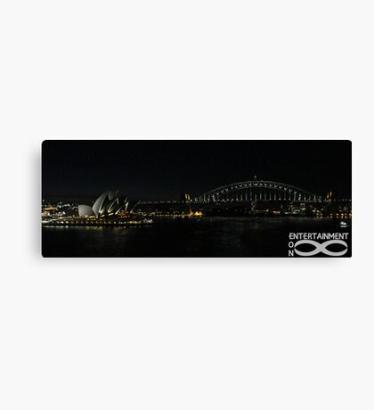 Sydney Icons at night. Canvas Print