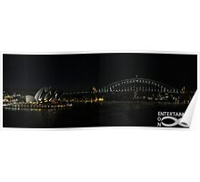 Sydney Icons at night. Poster