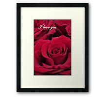 Red Roses - I Love You Framed Print