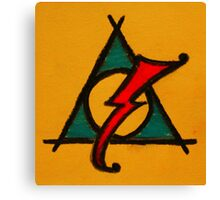 Orange, Blue and Red Deathly Hallows Scar Canvas Print