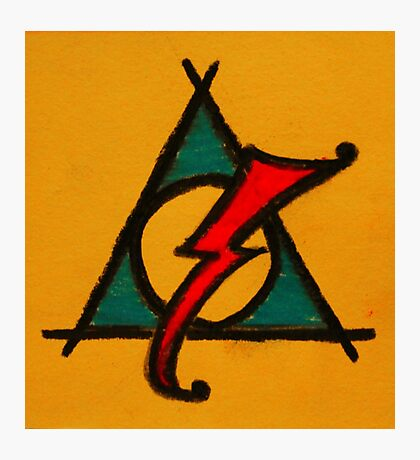 Orange, Blue and Red Deathly Hallows Scar Photographic Print