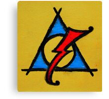 Yellow, Blue and Red Deathly Hallows Scar Canvas Print