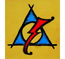 Yellow, Blue and Red Deathly Hallows Scar Photographic Print